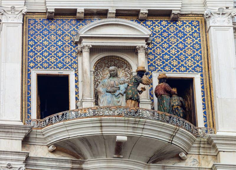 ` Orologio, Venedig, Italien för dell för klockatorn eller Torre arkivbild