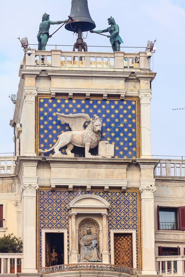 ` Orologio, Venedig, Italien för dell för klockatorn eller Torre royaltyfri fotografi