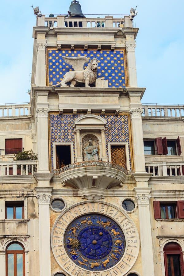 ` Orologio, Venedig, Italien för dell för klockatorn eller Torre royaltyfria bilder