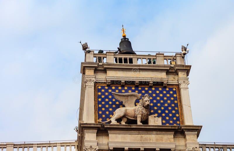 ` Orologio, Venedig, Italien för dell för klockatorn eller Torre royaltyfri bild