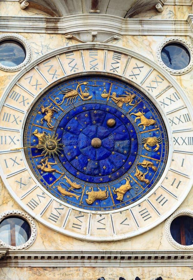 ` Orologio, Venedig, Italien för dell för klockatorn eller Torre royaltyfri foto