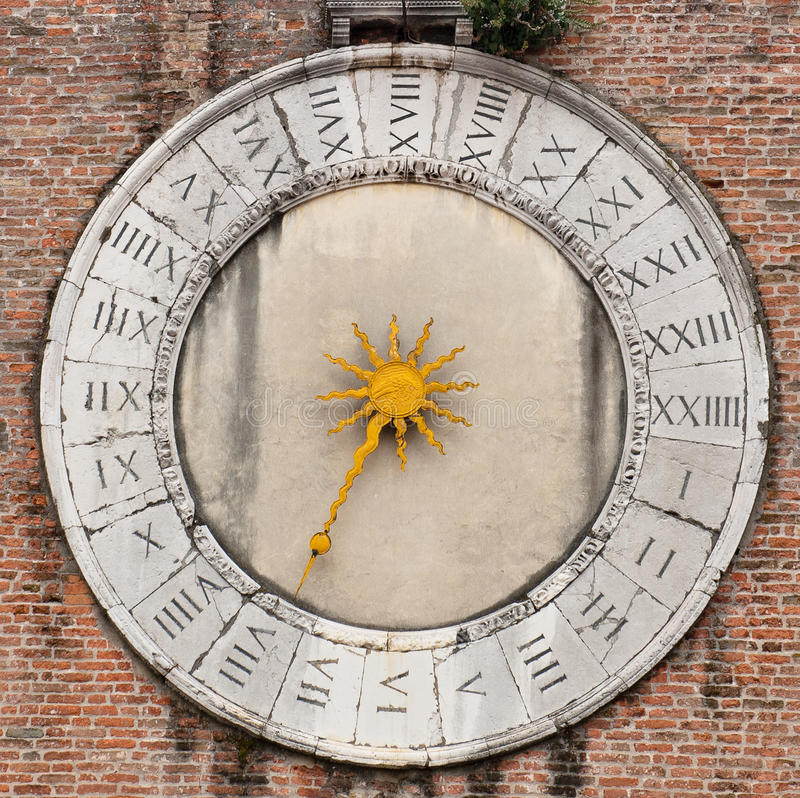 Orologio veneziano immagini stock libere da diritti