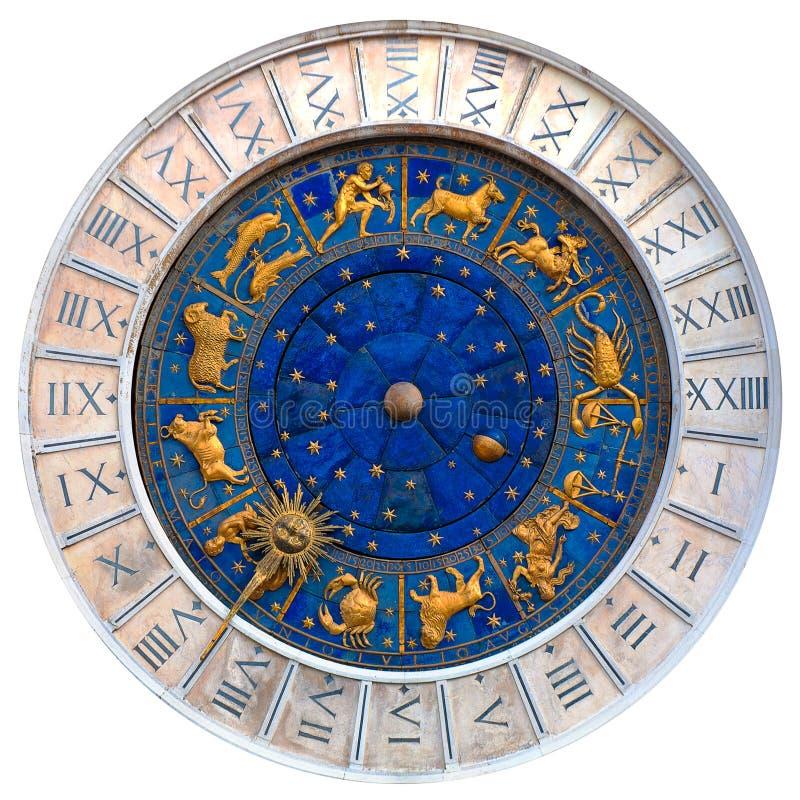 Orologio veneziano fotografie stock libere da diritti