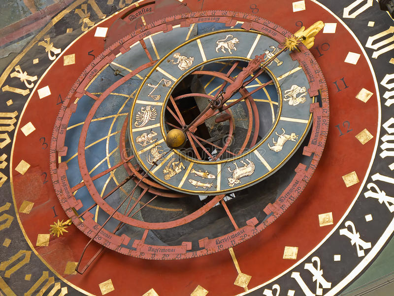 Orologio zodiacale a Berna fotografia stock