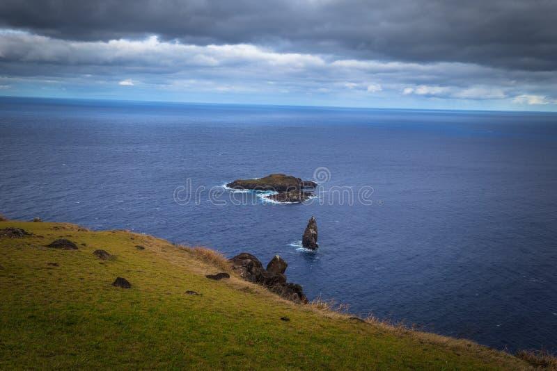 Orongo, Easter Island - July 11, 2017: Island of Motu nui, near. Orongo, Easter Island - July 11, 2017: The Island of Motu nui, near Orongo, Easter Island stock image
