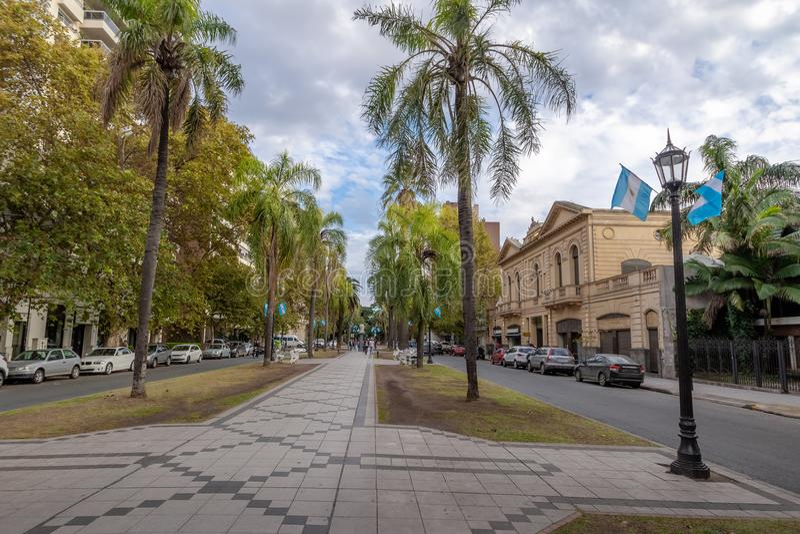 Oronoboulevard - Rosario, Santa Fe, Argentinië royalty-vrije stock afbeeldingen