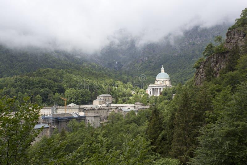 Oropa Sanctuary - Biella - Italy. Oropa Sanctuary in Biella - Italy stock photography
