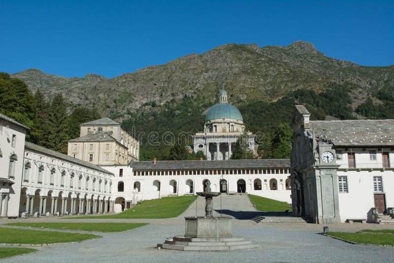 Oropa Sanctuary - (Biella) - Italy. View of the sanctuary of Oropa - (Biella) - Italy stock images