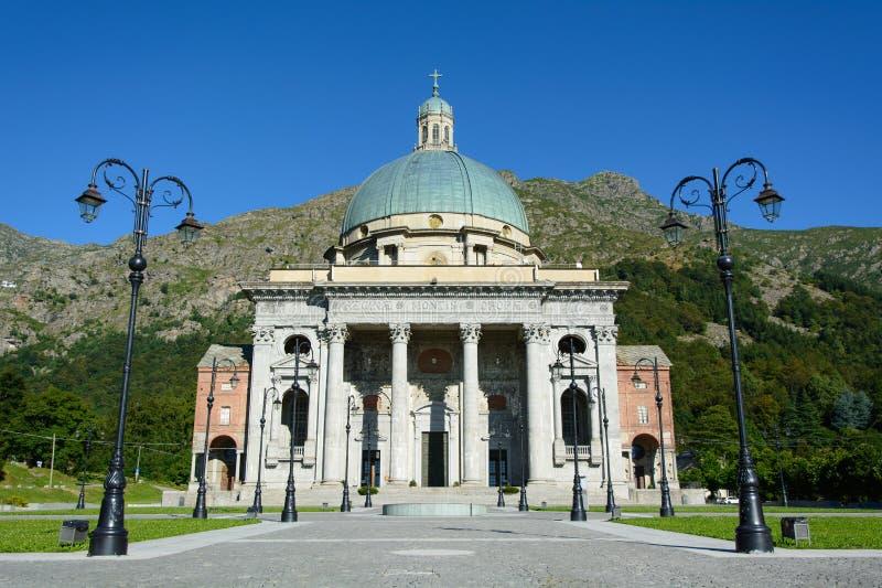 Oropa Sanctuary - (Biella) - Italy. View of the sanctuary of Oropa - (Biella) - Italy stock photos