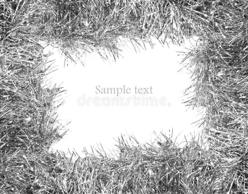 Oropel de plata con el sitio para su texto imagen de archivo libre de regalías