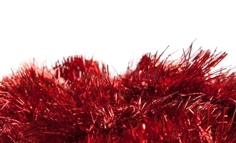 Oropel rojo fotos de archivo