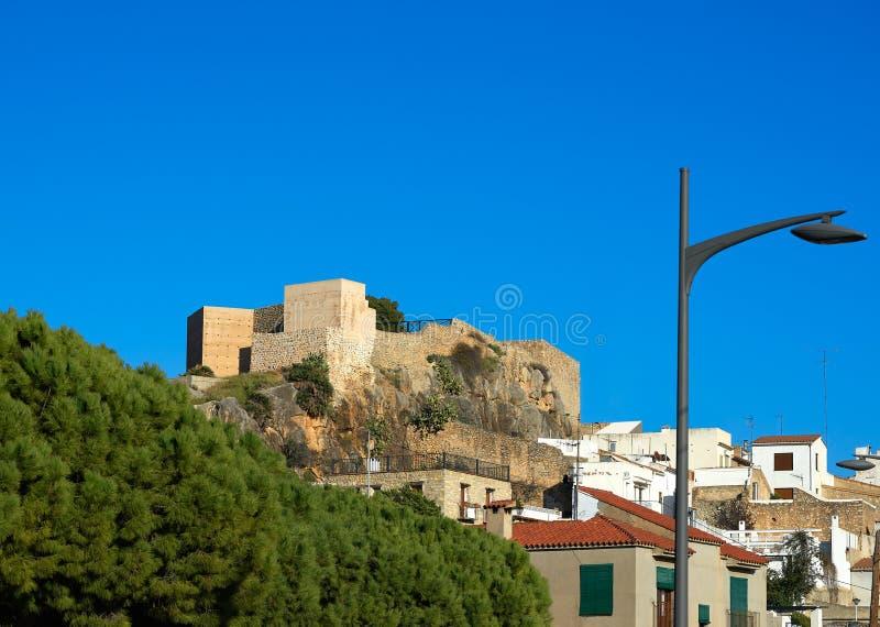 Oropesa DE Mar kasteel in Castellon Spanje stock foto's