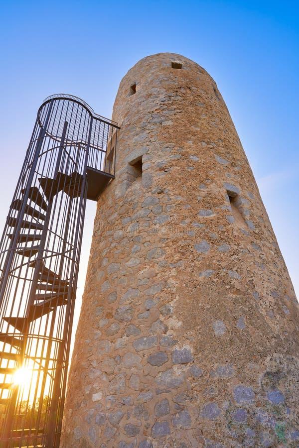 Oropesa DE Mar Torre de toren van La Corda stock foto
