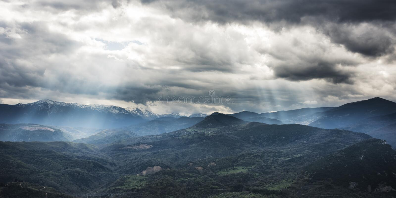 Oros Giona Greece. The Oros Giona mountain range in Greece near Thermopylae royalty free stock images