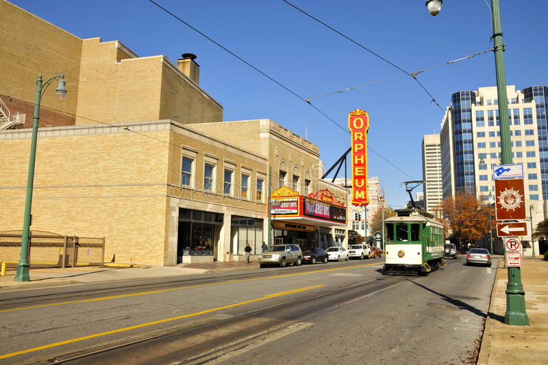 Orpheum teater, Memphis fotografering för bildbyråer
