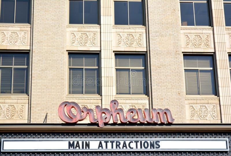 Orpheum theater-Theater-Sioux Stad, Iowa stock foto's