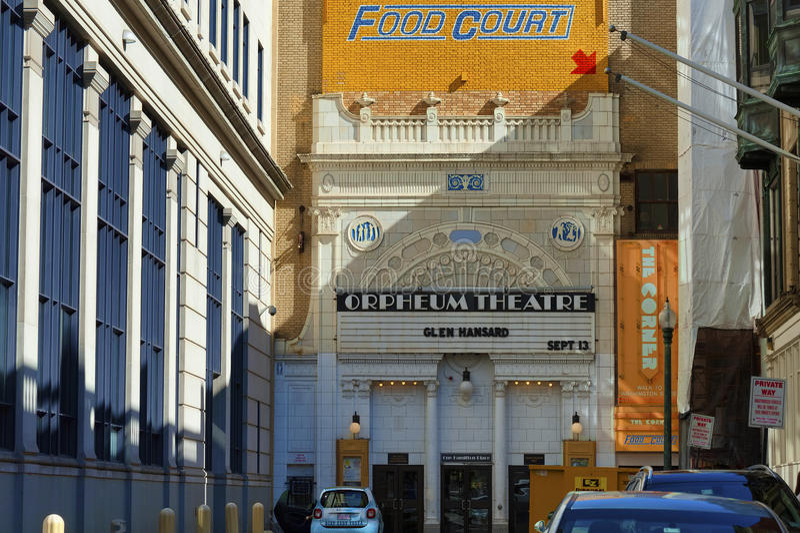 Orpheum Theatre in Boston Massachusetts royalty free stock photos