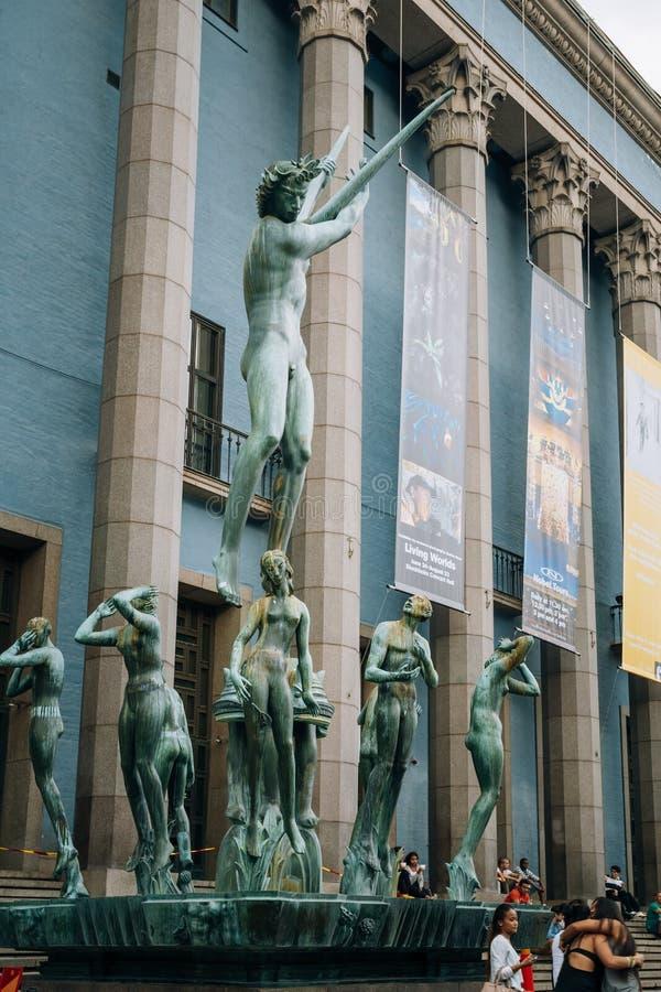 Orpheus-Brunnen befindet sich vor Konzert stockfotos