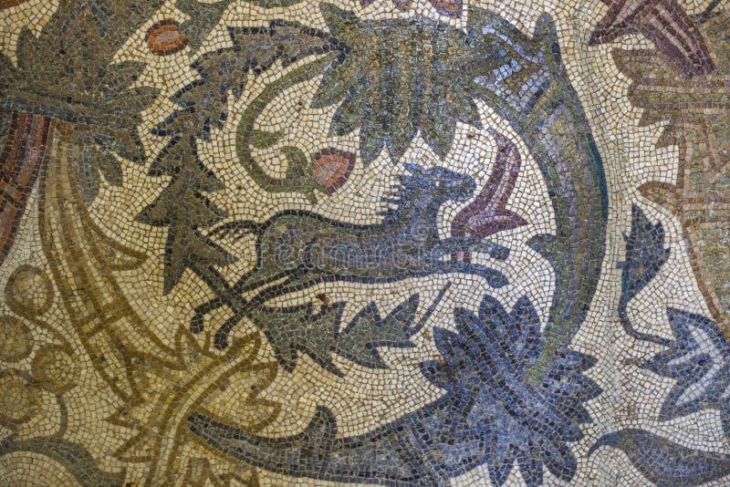Orpheus mozaiki czerep z koniem obrazy royalty free