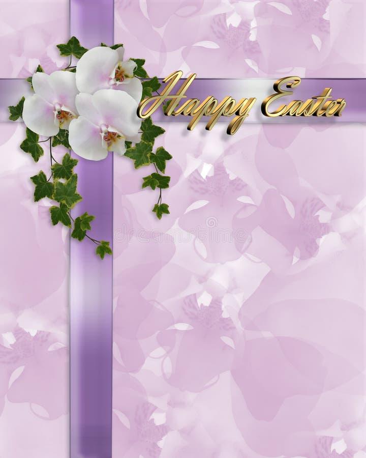 Orquídeas e hera da beira de Easter ilustração do vetor