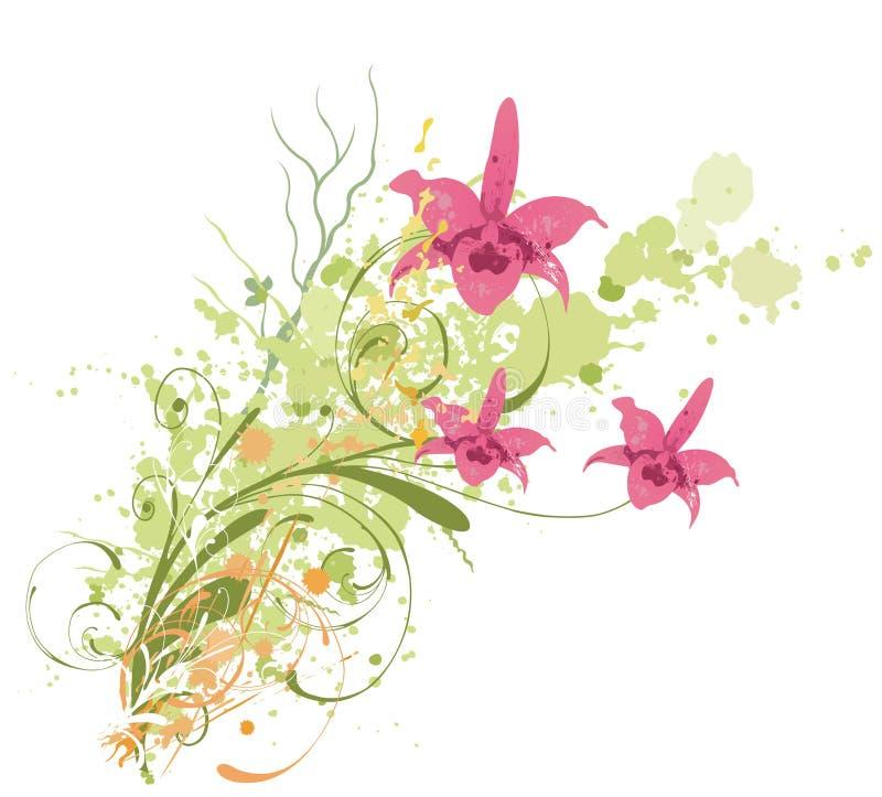 Download Orquídeas sujas ilustração do vetor. Ilustração de stylish - 10055419