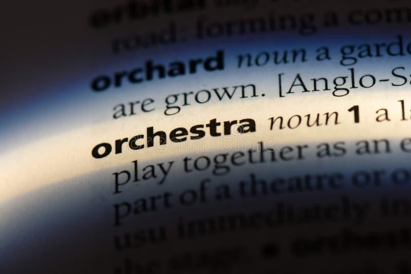 orquesta foto de archivo libre de regalías
