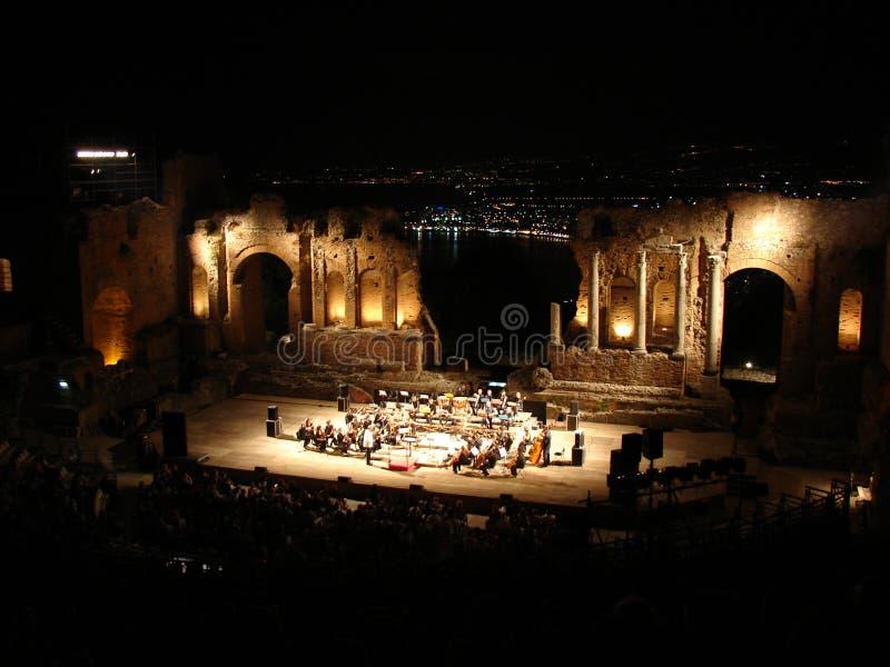 Orquesta en Taormina fotos de archivo