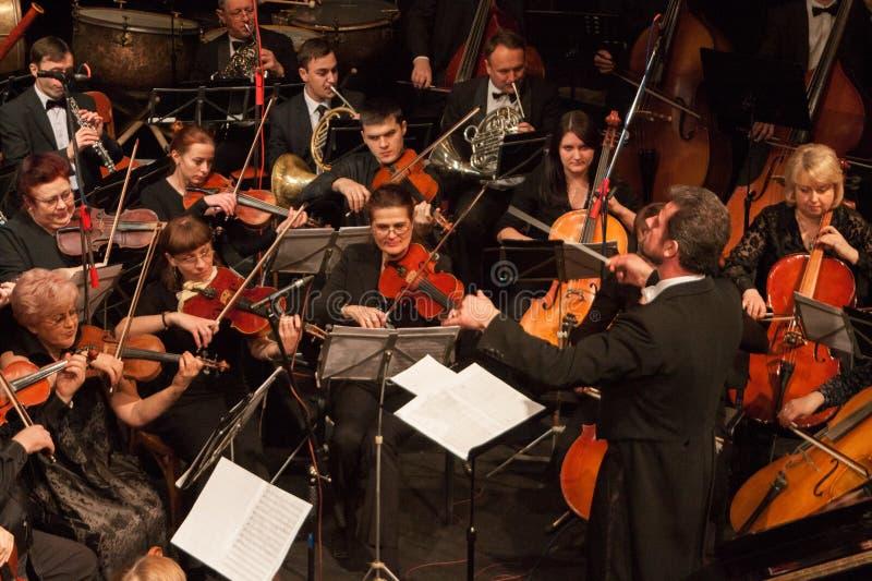 Orquesta sinfónica imagen de archivo