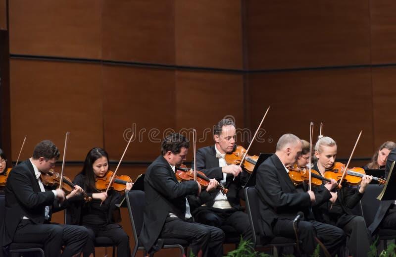 Orquesta sinfónica de la radio de Viena fotografía de archivo