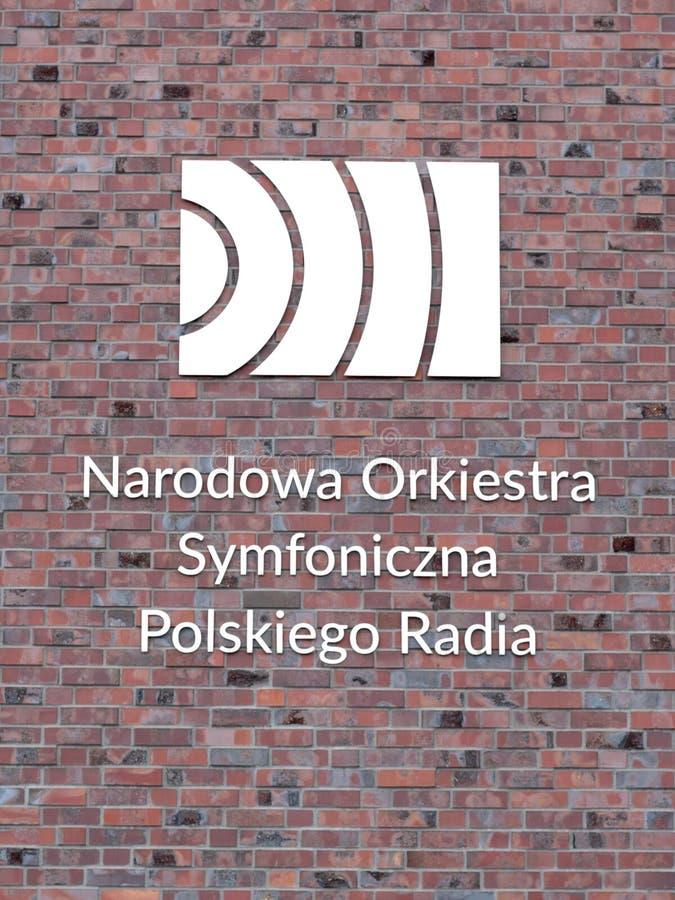 Orquesta sinfónica de radio nacional polaca NOSPR foto de archivo