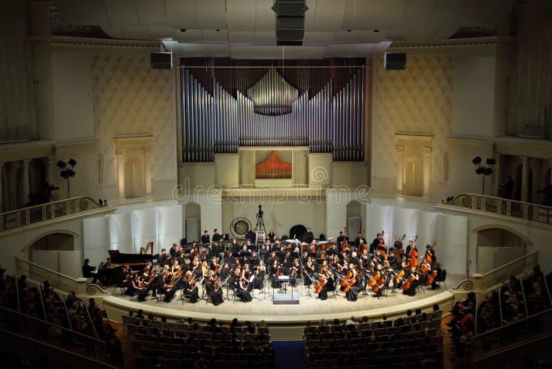 Orquesta sinfónica del invernadero del estado de Moscú imágenes de archivo libres de regalías