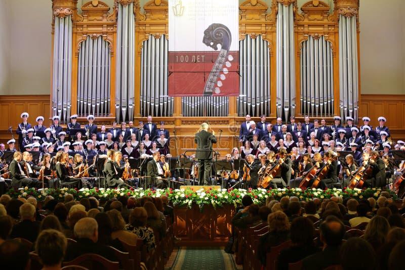 Orquesta sinfónica en la tarde de la gala foto de archivo libre de regalías