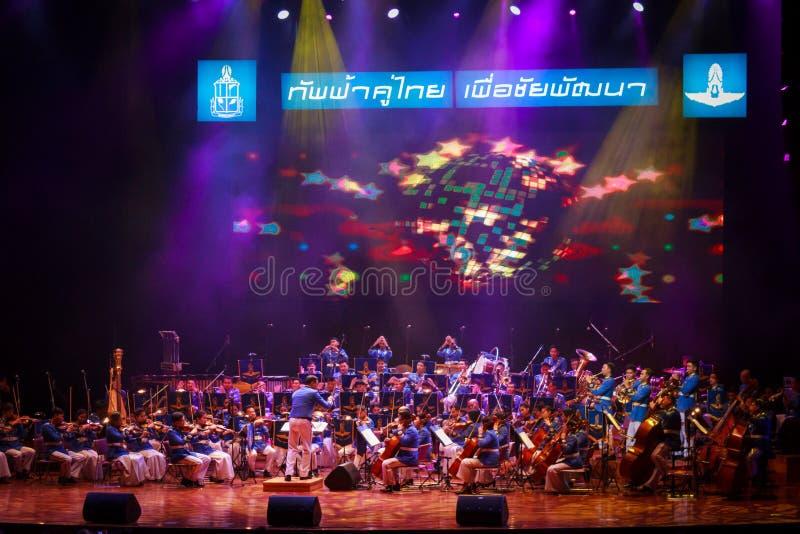 Orquesta sinfónica tailandesa real de la fuerza aérea foto de archivo