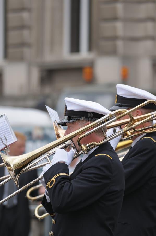 Orquestra da marinha fotografia de stock