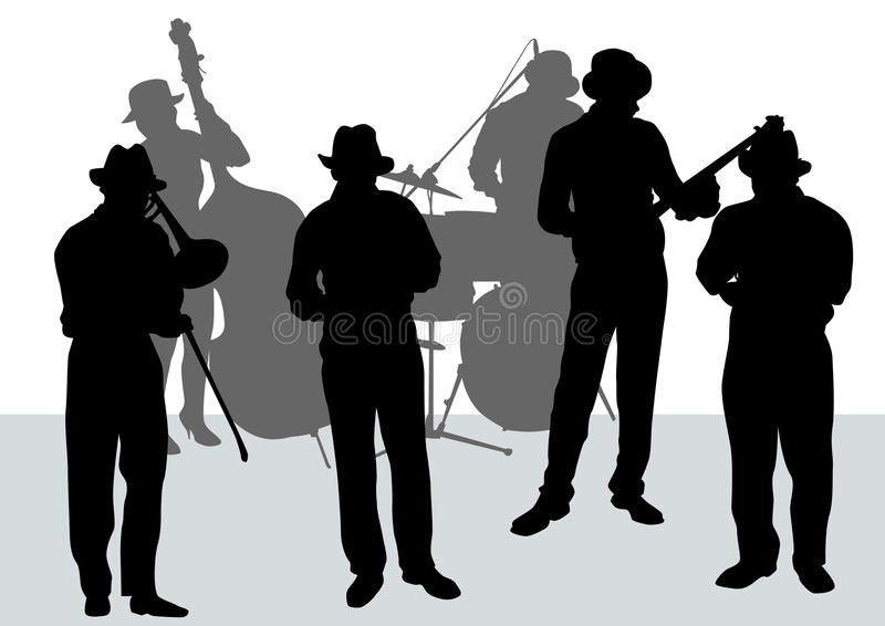 Orquestra do jazz foto de stock royalty free