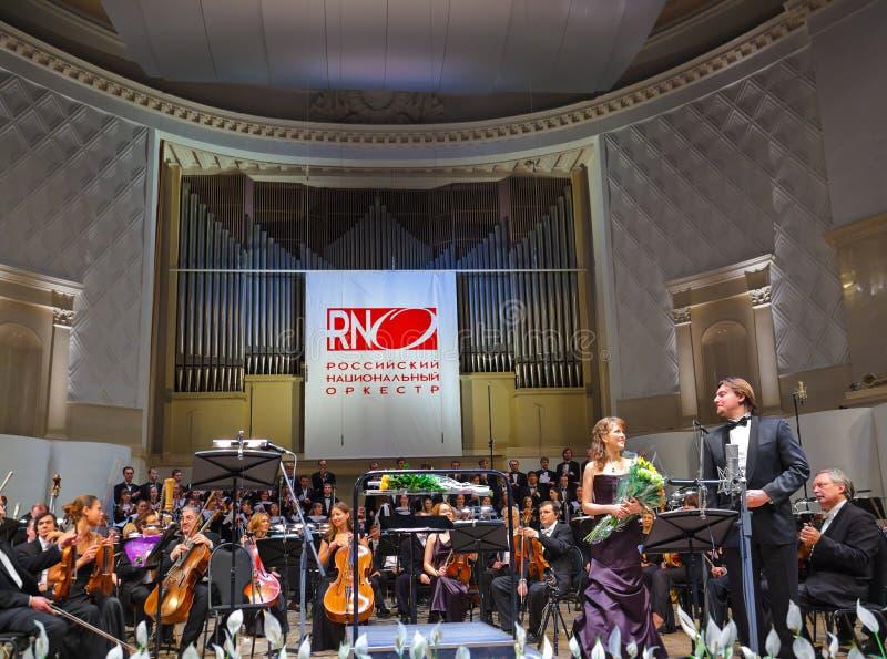 Orquestra do nacional do russo foto de stock