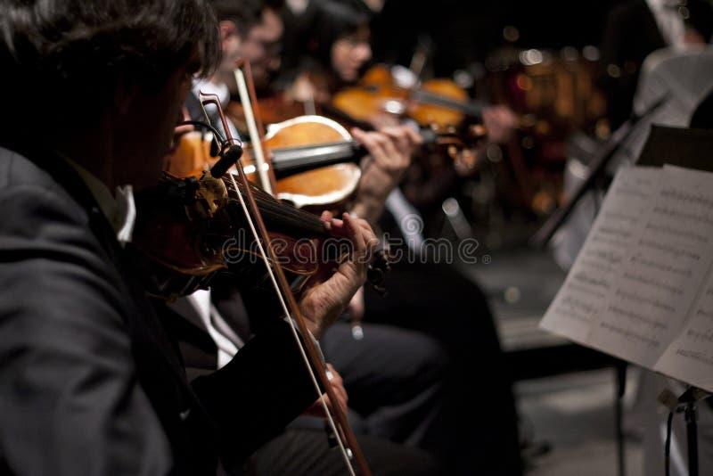 Orquestra do violino na esfera de Viena fotografia de stock
