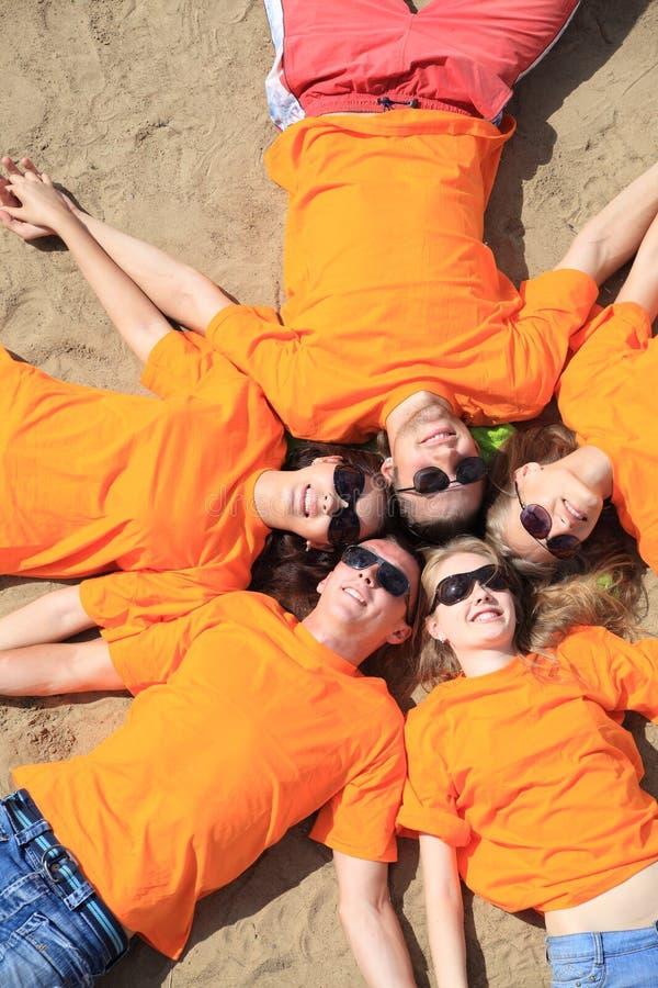 Orrange team royalty free stock photography