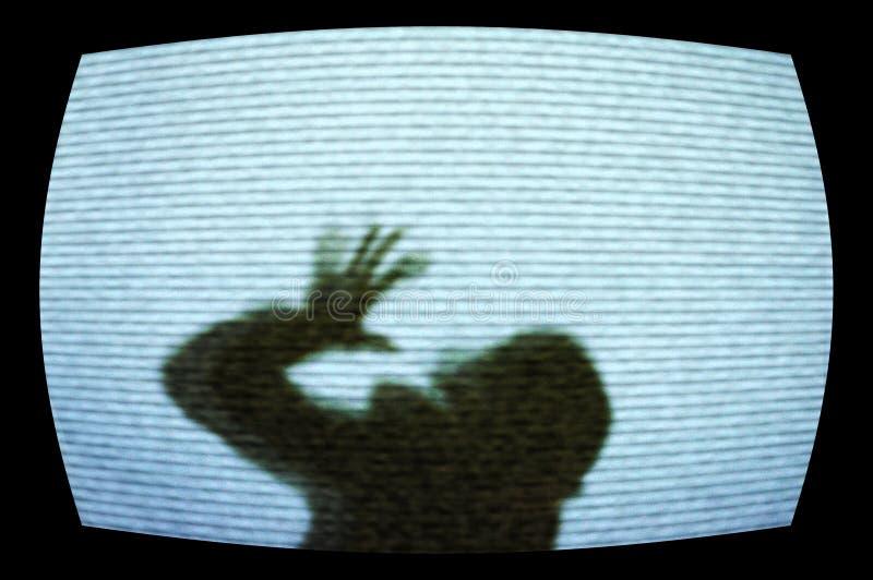 Orrore TV fotografie stock
