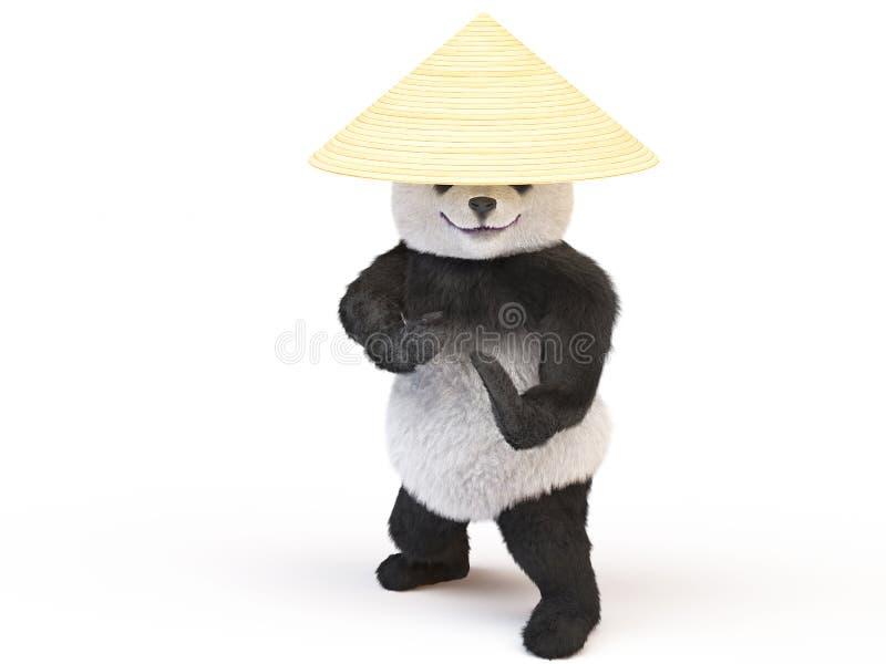 Orsacchiotto lanuginoso del panda allegro del carattere di Chineese royalty illustrazione gratis