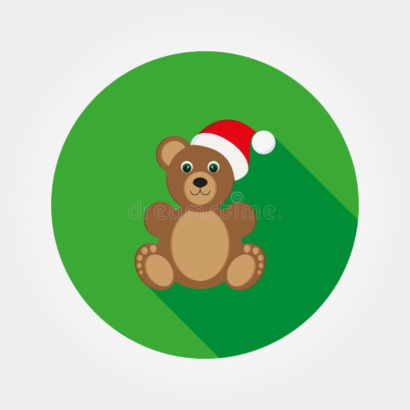 Orsacchiotto in un cappuccio di Santa Claus illustrazione di stock