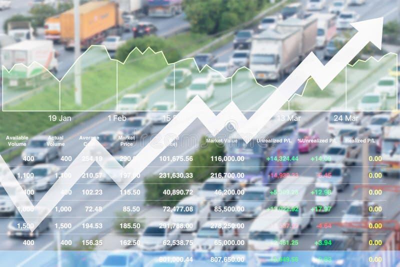 Orsak för tung trafik för mycket problem om finansiell budget på royaltyfri bild