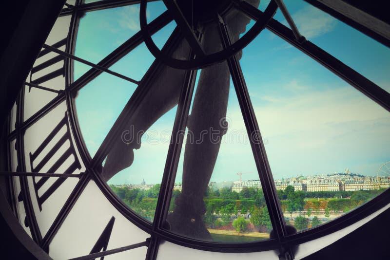 Orsay博物馆时钟 库存图片