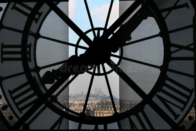 orsay时钟的博物馆 免版税库存图片
