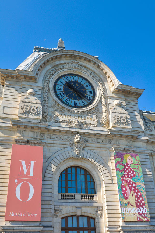Orsay Museum in Paris royalty free stock photography