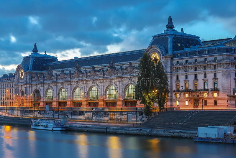 Orsay Museum is a museum in Paris, France, on the left bank of the Seine. royalty free stock photo