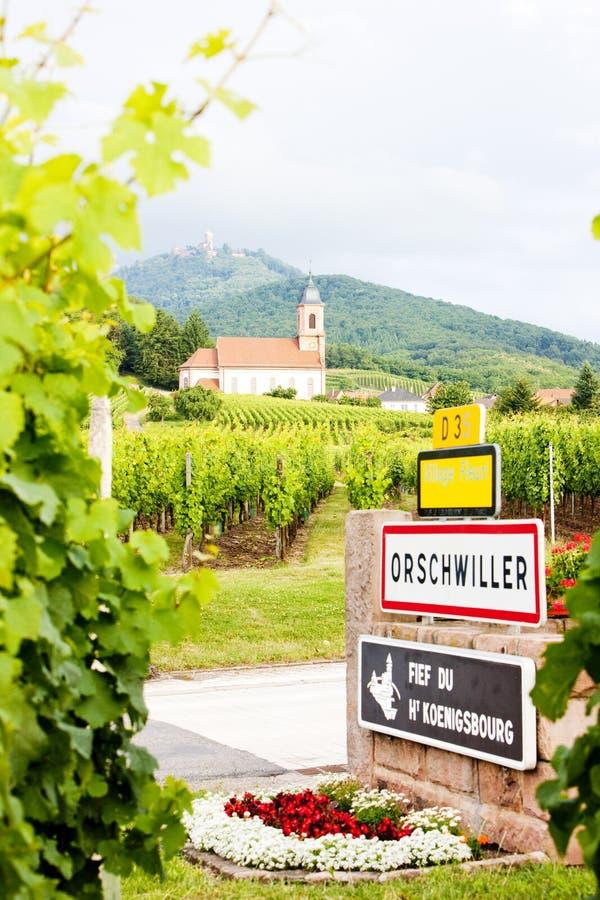 Orschwiller, Alsace, France image stock
