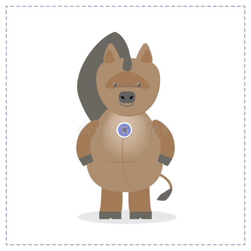Orse do  de Ð, um brinquedo do bebê do luxuoso um cavalo do divertimento Vetor dos desenhos animados ilustração royalty free