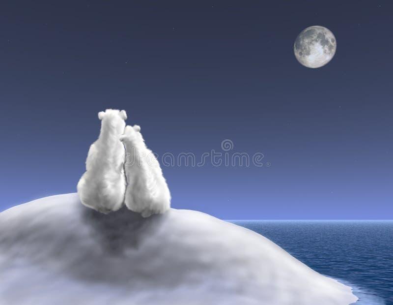 Orsi polari che stringono a sé illustrazione vettoriale