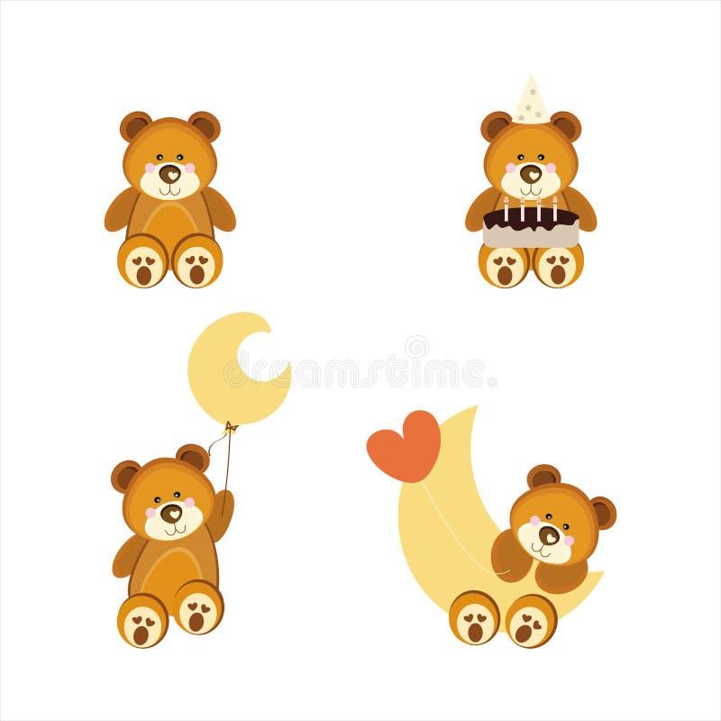 Orsi svegli dell'orsacchiotto fotografia stock libera da diritti